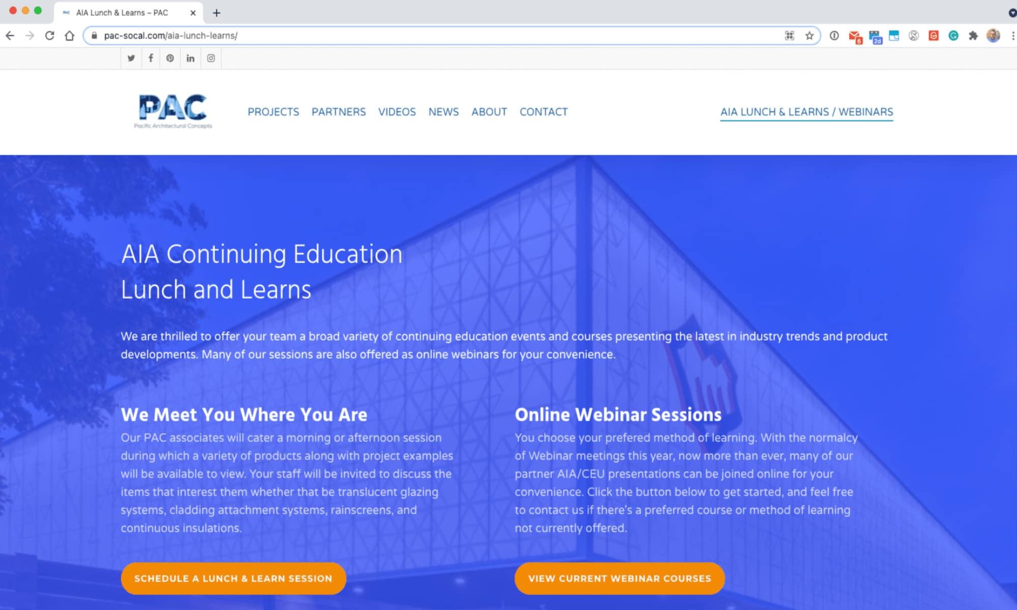 New PAC Website